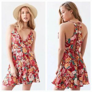 New Urban Outfitters Kimchi Red Floral Dress